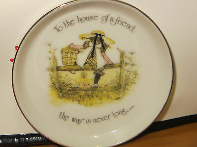 Holly Hobbie Small Plate To the house of a friend the way is never long