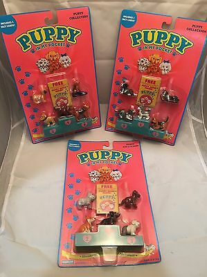 3 MOC Vintage 1994 Hasbro PUPPY IN MY POCKET Figures Collection NOS Toys