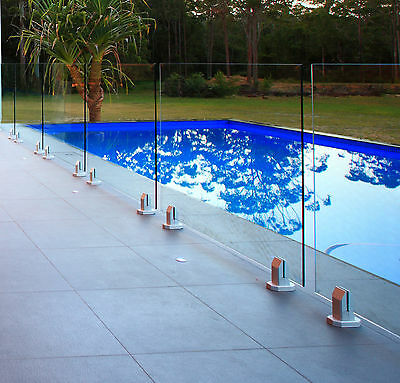 2 PIECES TOUGHENED GLASS POOL FENCE OR BALUSTRADE 1300x1200x10mm