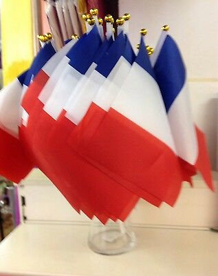 25 French France Twin Town Events SMALL HAND WAVING FLAG Display sports Party
