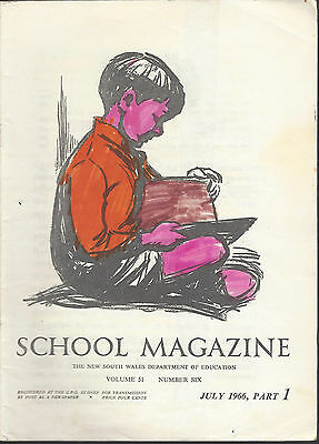 Vintage Primary 'School Magazine' NSW Dept of Education 5 issues 1966 Part 1