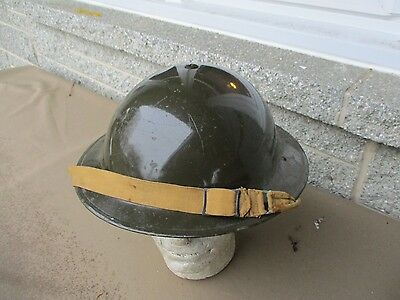 Ww2 British Army Parade Finish Paint Steel Helmet With Rare Chinstrap