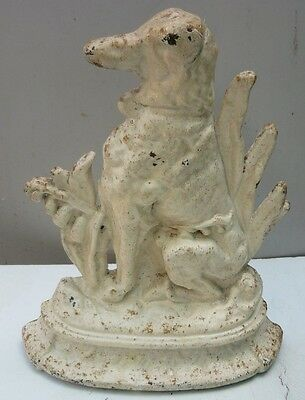 Antique cast iron door stop - Wolfhound Dog - very heavy for its size