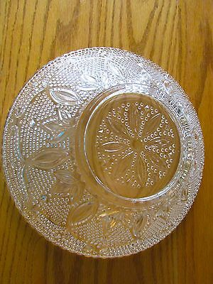 CRYSTAL HERITAGE BOWL 10-1/2  By FEDERAL GLASS ~  Beautiful PRISTINE Condition