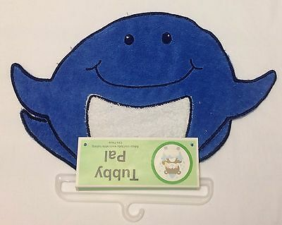 Tubby Pal Newborn Baby Boy Blue Whale Bathtub Cotton Cloth Keeps Baby Warm NEW