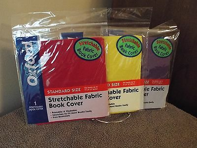 Oxford Stretchable Fabric Book Cover Set of Three