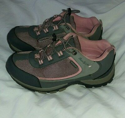 Peter Storm girls walking boots trainers pink grey 1
