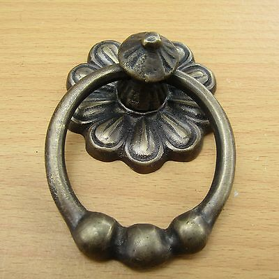 "2.25"" Vintage Solid Brass Front Door Knocker with Pull Ring KNOCKER GBY 83"