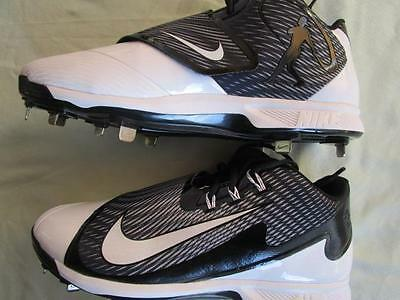 Nike Air Swingman Legend Mid Metal Baseball Cleats Various Sizes Black White