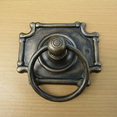"4.0"" Vintage Solid Brass Front Door Knocker with Pull Ring KNOCKER GBY 25"