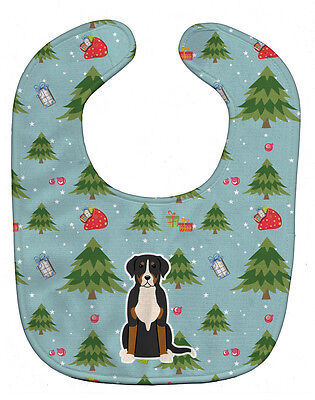 Carolines Treasures  BB4697BIB Christmas Greater Swiss Mountain Dog Baby Bib