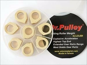 Free shipping Dr.Pulley Slider Roll 25x17 13g~21g fit Piaggio MP3 400 Fuoco 500