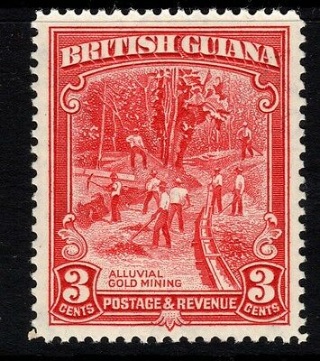 BRITISH GUIANA SG290 1934 3c SCARLET p12½ - Unmounted mint