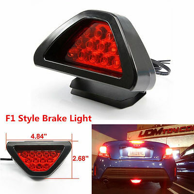 Car 3rd Red Strobe Triangle Brake Taillights Flash 12 LED Safety Warning Lights