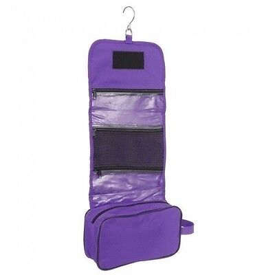 Tough 1 Purple Heavy Nylon Roll Up Accessory Bag Grooming Caddy Clippers Case