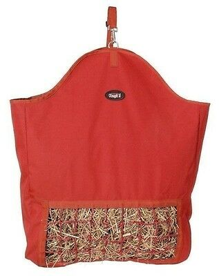 Tough 1 Heavy Nylon RED Slow Feed Hay Bag Square Gusseted for Trailer New