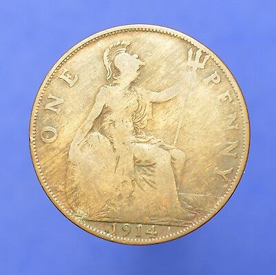 Lot# 26 British Coins: Great Britain 1914 George V Penny KM# 810