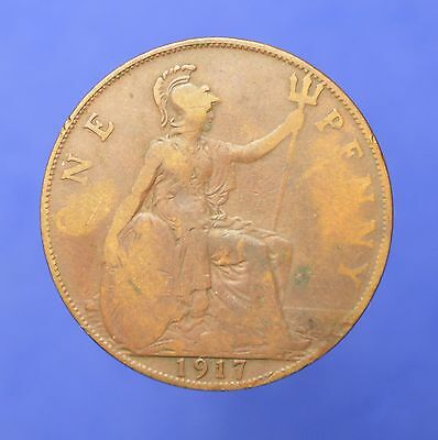 Lot# 29 British Coins: Great Britain 1917 George V Penny KM# 810