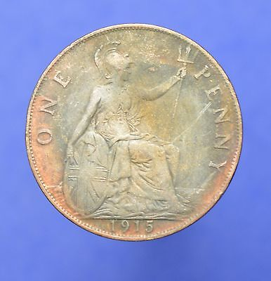 Lot# 27 British Coins: Great Britain 1915 George V Penny KM# 810