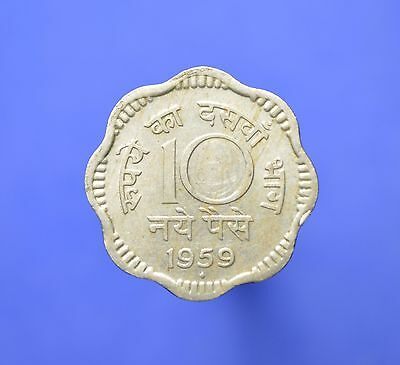 Lot# 6 India Republic Coins: SHARP 1959(B) 10 Naye Paise