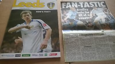 2008-09 Leeds United v Scunthorpe utd + newspaper match report and picture