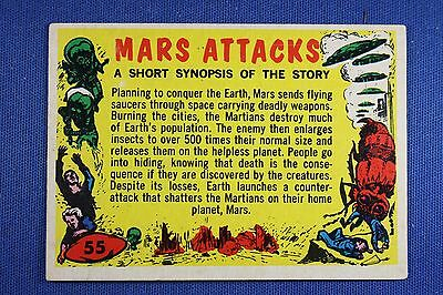 1962 Topps Bubbles - Mars Attacks - #55 Checklist (Partial Check) - VG/Ex
