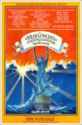 BRUCE SPRINGSTEEN TOM PETTY J TAYLOR JACKSON BROWNE No Nukes 1979 Concert Poster