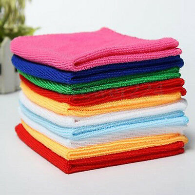 10pcs Multi-Color Soft Soothing Cotton Face Towel Cleaning Wash Cloth Hand Towel