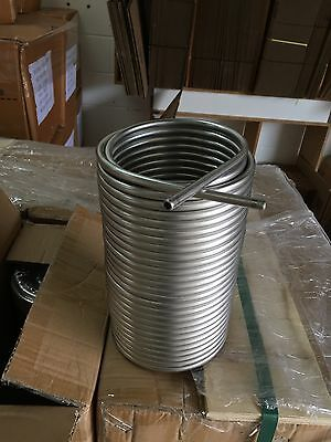 "Jockey Box Stainless Steel Coil - 5/16"" ID x 70' XL Long Max Cooling w/fittings"