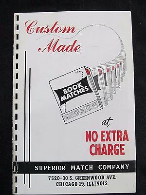 1930s SUPERIOR MATCH COMPANY CATALOG Chicago~Small Customer Sales old vtg covers
