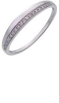 9ct White Gold 0.10ct Diamond Wedding Eternity Ring