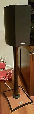 Wharfedale Diamond 10.1 speakers with OmniMount Gemini 2 stands