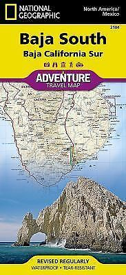 National Geographic Adventure Map: Baja South - Baja California Sur 3104 by...