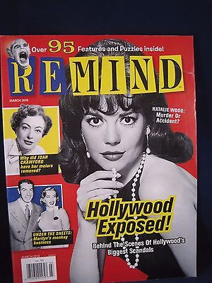 Remind Magazine - March 2016 Issue -  Hollywood Scandals, Vintage Films, TV