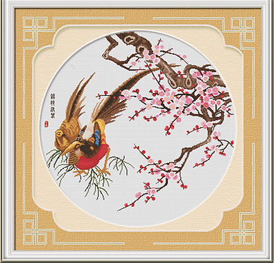 """Bird &Flower"" New~~ Taditional Counted Cross Stitch Kit 76cm*73cm"