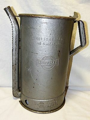 Vintage Huffman Filling Station Oil Can With Moveable Spout And Thumb Lever