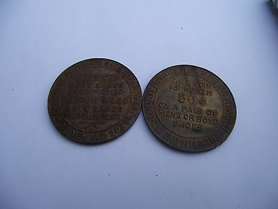 vintage tokens for free shoes good till 1927 doutrichs shoes