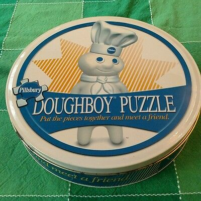 2000 Pillsbury Doughboy Puzzle in Collectible Tin COMPLETE!
