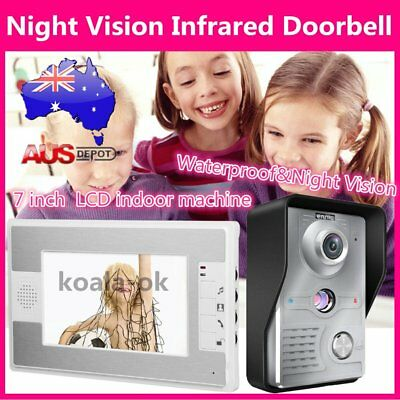 7 Inch TFT LCD Screen Display Wired Doorbell Night Vision Infrared Doorbell trrg