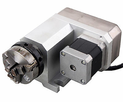 CNC Engraving Machine Router Rotational Rotary Axis 50F Style A-Axis, 4th-Axis