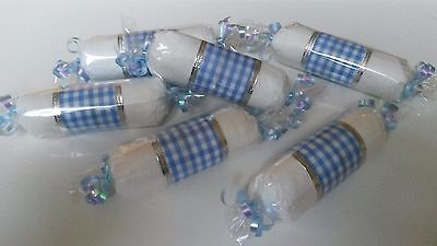 Lot of 6 Diaper Candies, Blue, Baby Shower Table Decoration, Gift for Boy