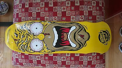 New Santa Cruz X Simpsons Homer / Roskopp Face Skateboard Deck - Rare