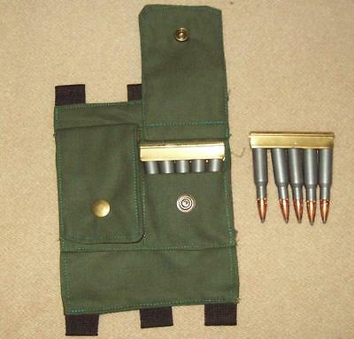 springfield/ mauser/ k43/ ENFIELD/ P17/ SMLE/ buttstock ammo pouch/ MILSURP/ammo