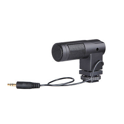BOYA BY-V01 Stereo Windproof Condenser Microphone For Canon Nikon Camera Video