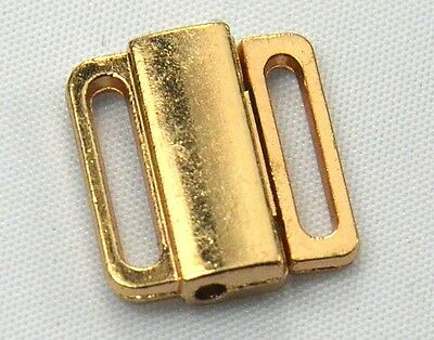 20 Gold Tone Closure Waist Extender Hooks & Eyes Garment Connectors Clasps K114