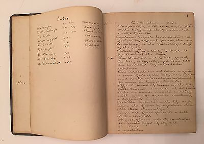 Vintage Ephemera 1910 Handwritten Medical Diary Journal Garfield Memorial Paper
