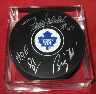 Frank Mahovlich Signed Toronto Maple Leafs Puck Coa Holo Autographed Frozen Pond