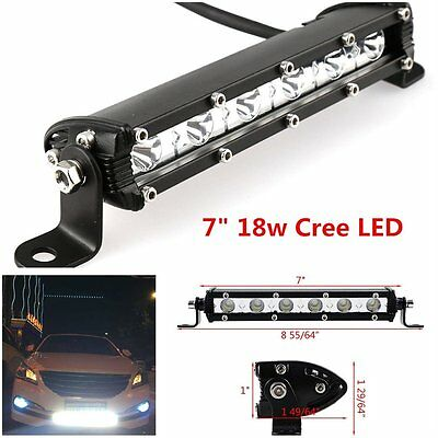 7 inch 18W Cree Led Work Light Bar Flood Spot Suv Boat Driving Lamp Offroad 4WD