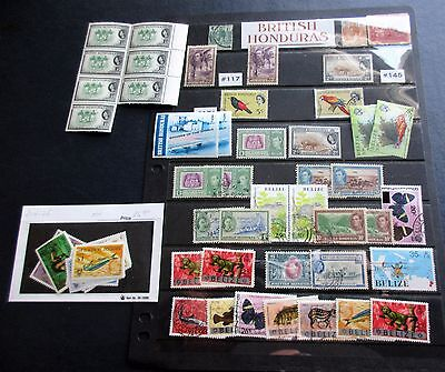 British Honduras & Belize STAMPS! mint used King Queen animals & more!