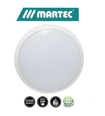 LED Oyster Eclipse 16W, 20W, 26W or 36W Dimmable Cool or Warm White IP54 Martec